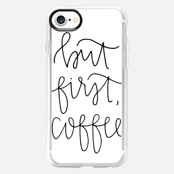 but first coffee - white - Snap Case