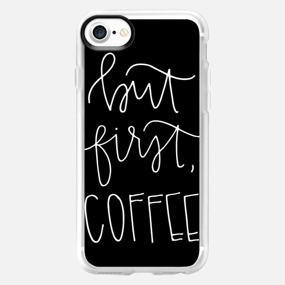 but first coffee - black plain - Snap Case