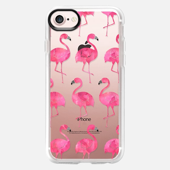 Watercolor Flamingos - Wallet Case