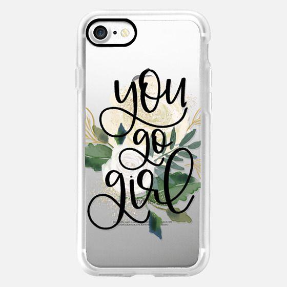 You Go Girl - Flower - Glitter Case