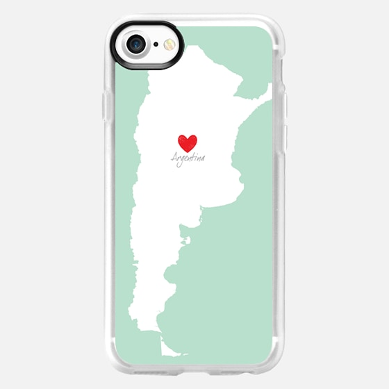 MINT ARGENTINA MAP - LOVE (Custom Country ;) - Wallet Case