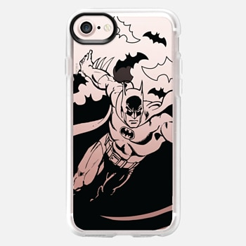 iPhone 7 Case Batman in Action B&W