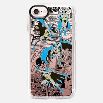 iPhone 7 Case Batman in Action with Comic