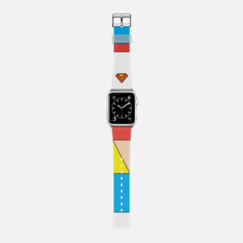 Single Superman Logo Colorblock Apple Watch Band
