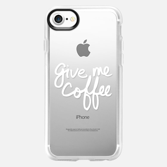Give Me Coffee (White Writing) - Wallet Case
