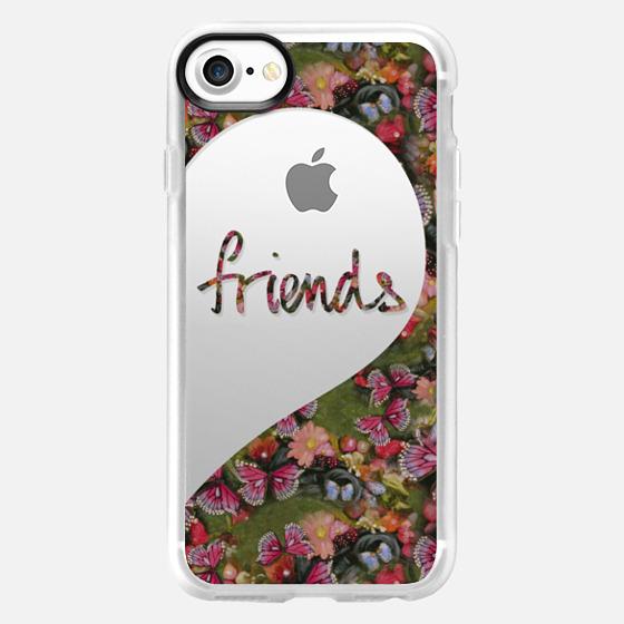 Best Friends (Friends Half Heart) Butterfly Garden - Wallet Case