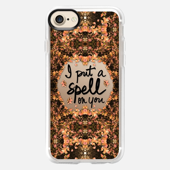 I Put A Spell On You (Autumn Orange Leaves Kaleidoscope) -