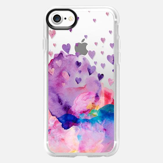 Watercolor love 3 transparent - Wallet Case