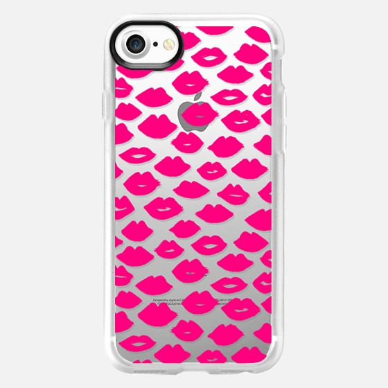 Lipstick Kisses - Pink - Wallet Case