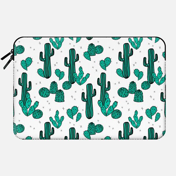 Cactus - Hipster Southwest Design by Andrea Lauren - Macbook Sleeve