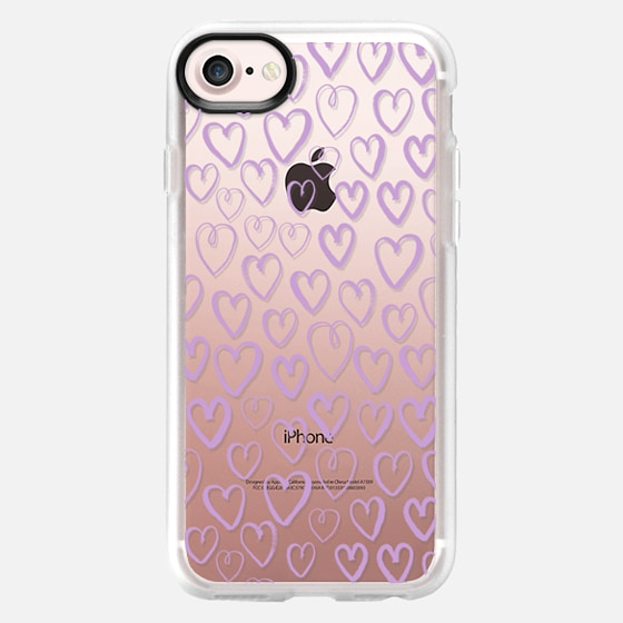 pastel purple hearts love valentines day gifts for her cell phone case iphone6 transparent - Wallet Case