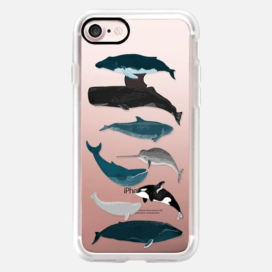 Whale iphone case, whales pattern, whales iphone7 case -