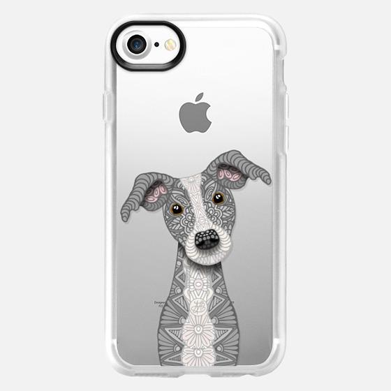 Cute Blue Grey & White Iggy - Greyhound - Classic Grip Case
