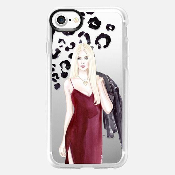 Stylish girl - Animal print - Snap Case