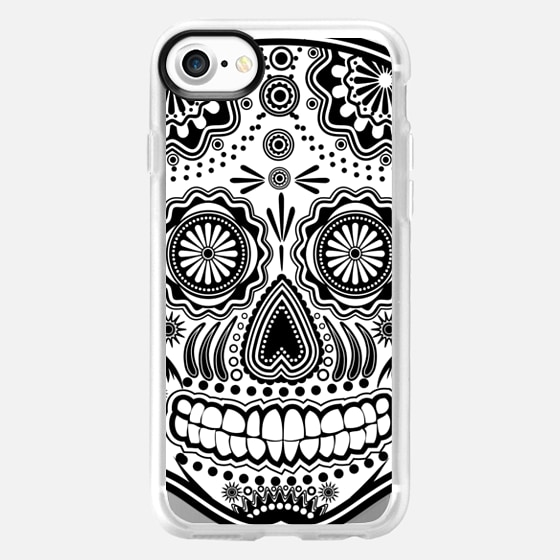 Sugar Skull, black and white -