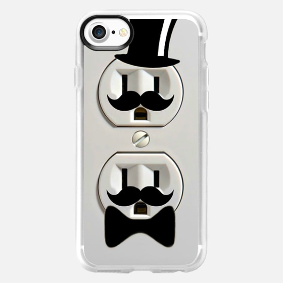 Top Hat and Mustache Plugs Fathers Day - Wallet Case