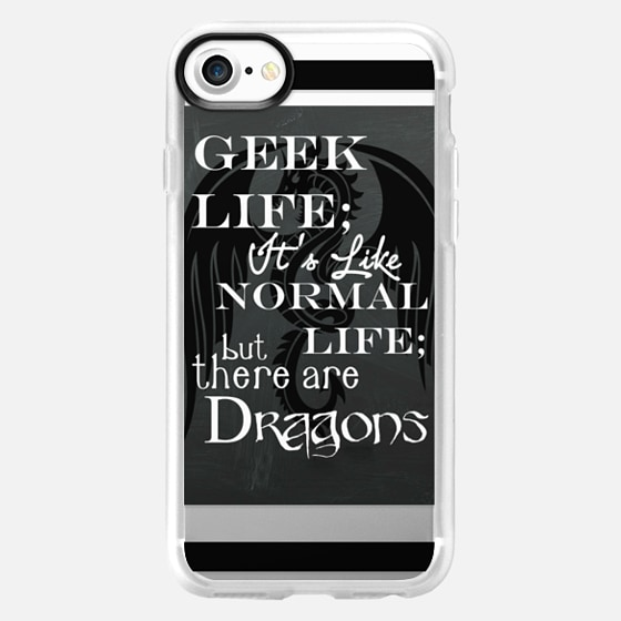 Geek Life with Dragons Fathers Day Graduation Gift  - Wallet Case