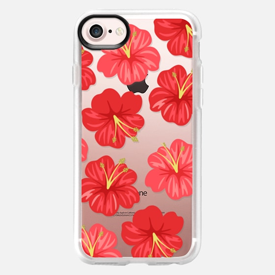 Hawaiian Hibiscus Red Flowers - Wallet Case