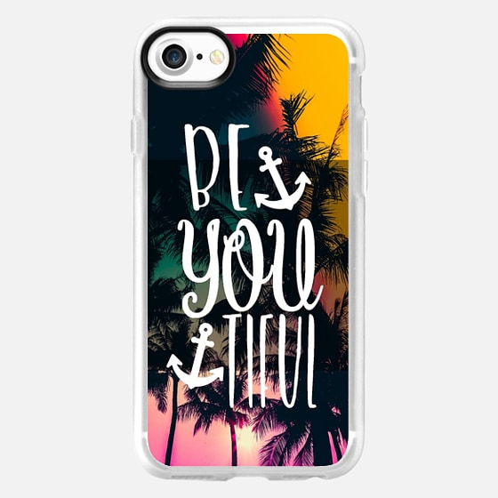 Be YOU tiful Tropical with Anchors - Classic Grip Case