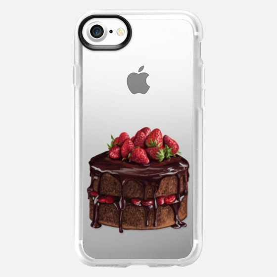 Chocolate Drizzle Strawberry Cake - Classic Grip Case