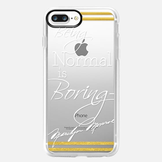 Being Normal is Boring Marilyn Monroe Quote -