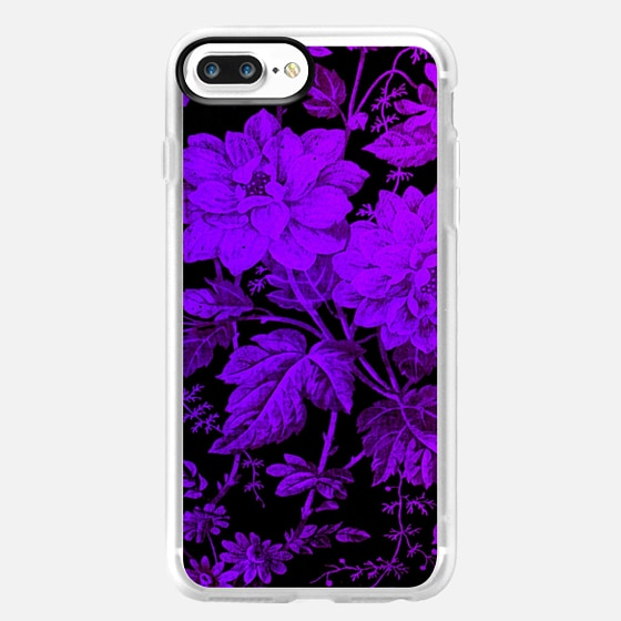 purple flowers on black background -