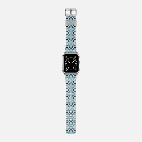pearls and gems - Saffiano Leather Watch Band
