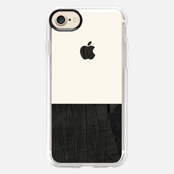 black wood and cream color block mens case - Wallet Case
