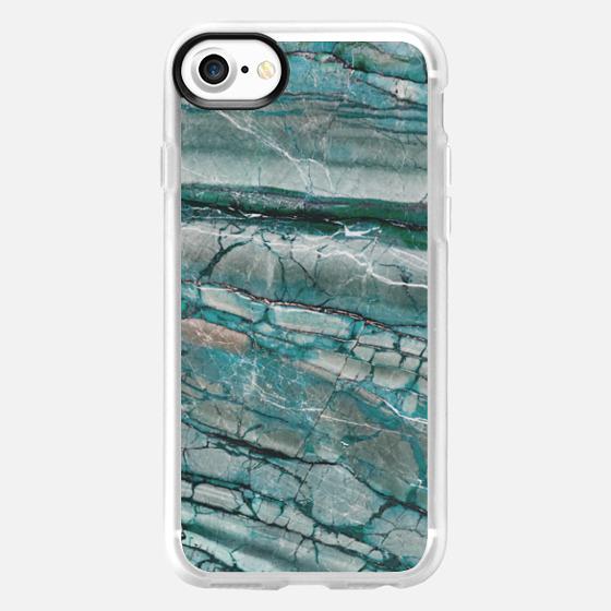 Emerald green marble - Wallet Case