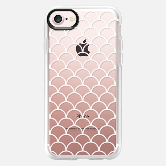 White and Clear Fish Scales - Wallet Case