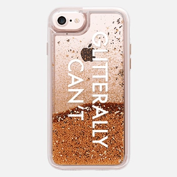 iPhone 7 ケース I Glitterally Cannot in White