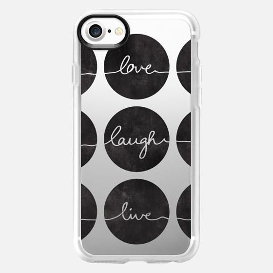 Love Laugh Live 2 black transparent - Wallet Case