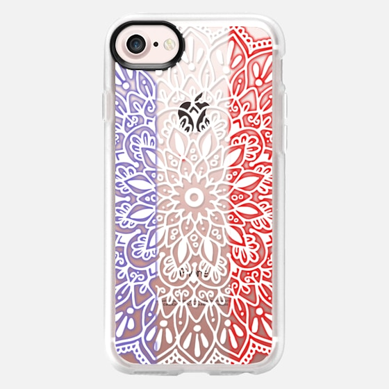 Glowing French Flag Mandala Lace - Wallet Case
