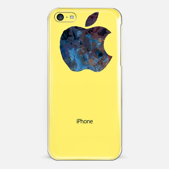 Simple Painted Apple Placement Optimized for iPhone 5c - Classic Snap Case