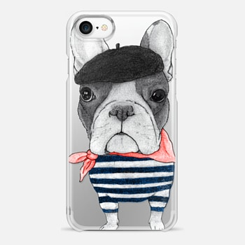 iPhone 7 Case French Bulldog (transparent)