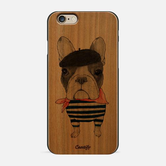 French Bulldog (wood) - Wood Case