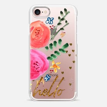 iPhone Case -  Hello Floral Clear