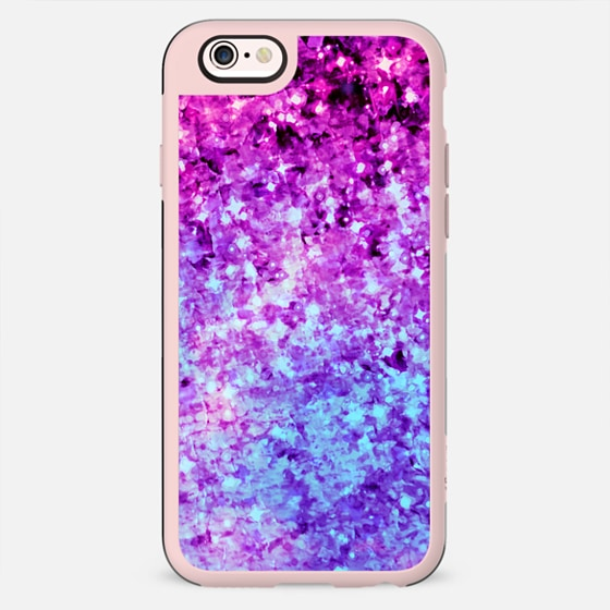 RADIANT ORCHID GALAXY - Cosmic Ombre Abstract Colorful Sparkle Purple Lilac Lavender Plum Violet Stars Galactic Chic Cosmos Whimsical Painting - New Standard Pastel Case