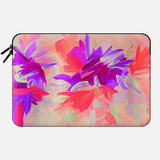 DECONSTRUCTING THE GARDEN 3 - Pretty Pink Lavender Lilac Purple Romantic Love Floral Romance Abstract Painting Flowers Bridal Bouquet Bride Wedding Elegant  - Macbook Sleeve
