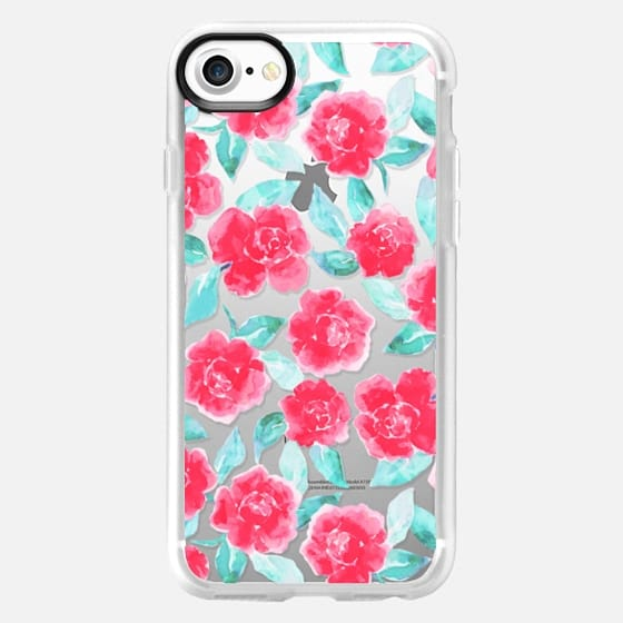 Cottage Peonies Pink Clear - Classic Grip Case