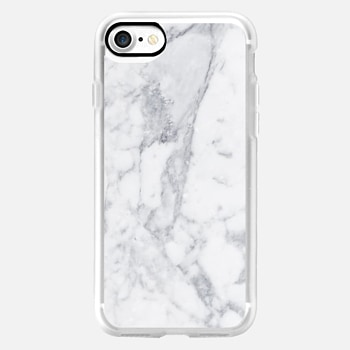 iPhone 7 ケース White Marble Metaluxe Case