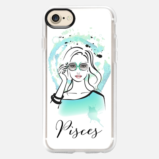 PISCES Zodiac Horoscope Sign - Wallet Case