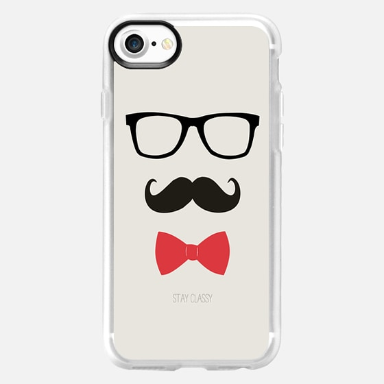STAY CLASSY MUSTACHE AND BOW TIE -