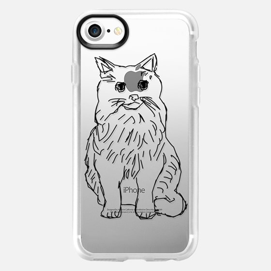 Kitty Cat Transparent - Wallet Case