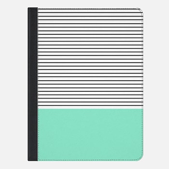 "iPad Pro 9.7"" Case Mint and stripes"