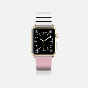 Apple Watch Band (38mm) Case Pink and stripes