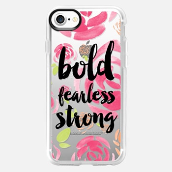 iPhone 7 Case Bold fearless strong floral