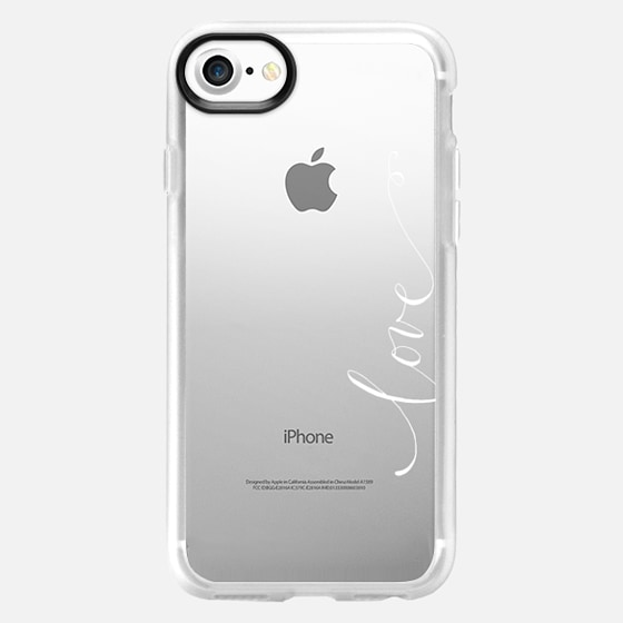 Love in white calligraphy - Classic Grip Case