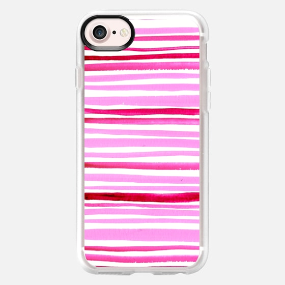 Watercolor Stripes - Classic Grip Case