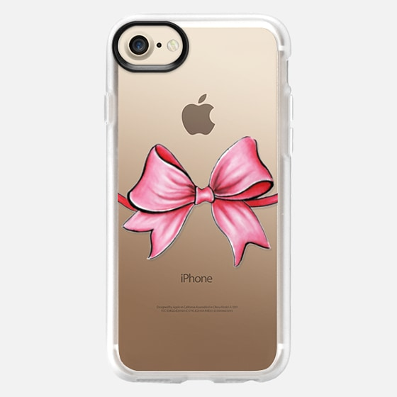 PINK RIBBON BOW - Wallet Case